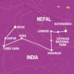 Delhi Tour Map
