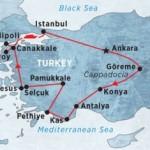 Treasures of Turkey Map